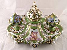 A ceramic reproduction, probably French, of the