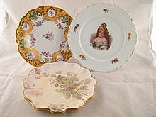 A pair of Doulton plates with shaped rim and