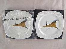 Two Limoges plates featuring Concorde given on the