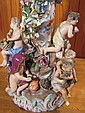 A pair of Meissen 'Four Season' centre pieces, the