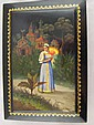 A large Russian lacquer box, signed Fedoskino,