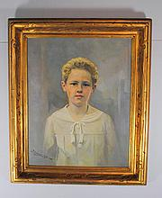 J.W. Myles (American 20th Century) Portrait of Boy 1925