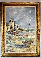 Albert Cragoni (20th cent.) Boat on Beach