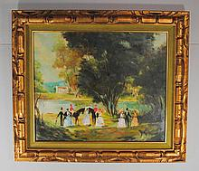 Continental School (19th - 20th cent.) European Country Riding Scene