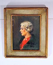 American or British School (20th Cent.) Portrait of  Lady