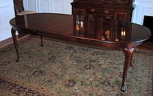 American Drew Queen Anne Style Dining Table and Six Chairs