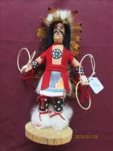 American Indian Kachina Doll Hoop Dancer by J. Bennett 11