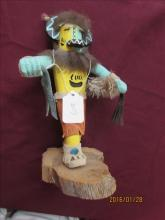 American Indian Kachina Doll Hotto by R. Yazzie 9 1/4