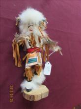 American Indian Kachina Doll Buffalo by VG 8 3/4