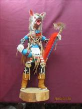 Large Wolf Faced Kachina Doll by Dave J Nelson 18