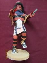 American Indian Kachina Doll - Hand Clown by A.E