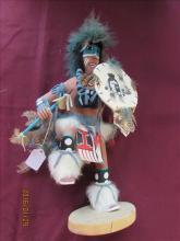 American Indian Kachina Doll - Shield Dancer by R./B. Charlie