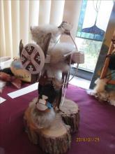 American Indian Kachina Doll - Buffalo Warrior by Berniy Begay