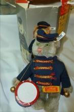 Steiff Bear in box- Cat Bandsman-#0122,198 with button