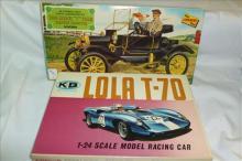 2 model car kits K&B and Lindberg- Lolo &1910 Model T Ford