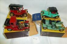 4 cars- Y1-Y15-Y14-Y11-Ford, Rolls, Maxwell & PACKARD