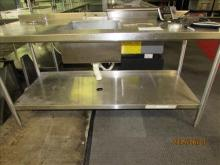 Stainless Steel Prep Table with built in sink- 71