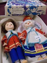 VINTAGE RUSSIAN BOY & GIRL DOLLS W/SLEEP EYES IN BOX
