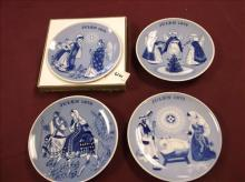 4 PORSGRUND NORWAY 1970's COLLECTIBLE WALL PLATES