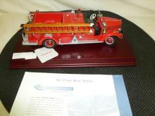 Franklin Mint Classic  1948 Mack Pumper scale