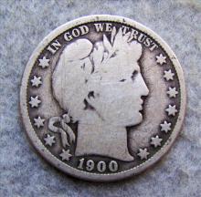1900O Barber Silver Half Dollar