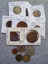 Lot of Ireland, German & Australian Coins