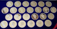 Set of 25 Proof $20 Sterling Silver Coins BVI