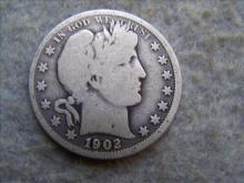 1902O Barber Silver Half Dollar