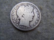 1906S Barber Silver Half Dollar