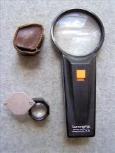 Illuminated Magnifying Glass and Jeweler's Loupe