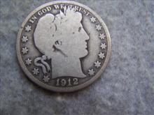1912S Barber Silver Half Dollar