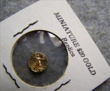 Miniature $20 Gold Replica