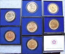 Seven American Revolution medals 1973, 74, 76