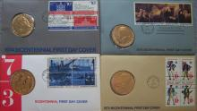 Four Bicentennial First Day Covers 1973-76