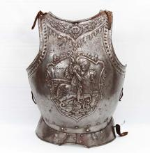INTERESTING HUNGARIAN SUITE OF ARMOR BREAST PLATE