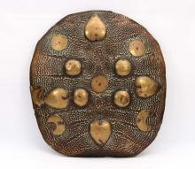 RARE INDIAN OR PERSIAN TURTLE SHELL DHAL SHIELD