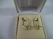 Ladies Diamond CZ Hanging Earrings