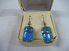 Blue/Green Tourmaline Stone Earrings