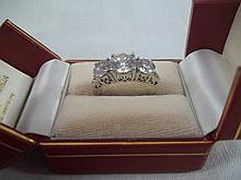 Princess Cut Faux Diam Ring