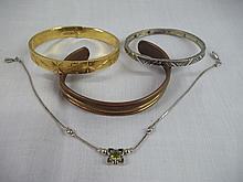 Vintage 4 pc. Copper/Asst. Braclet Set
