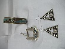 Alpacca Mexico Tourquise Jewelry Set