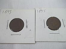 Indian Head penny Lot 1893/1895