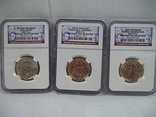 Set of 3 Presidential Gold Qurter Set.