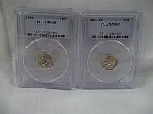 1961 10 cent & 1961 D 10 Cent