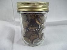 jar full of Wheat pennies