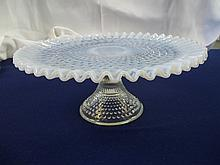 Fenton Hobnail Opalescent Cake Stand