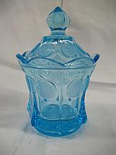 Miss America Blue Lidded Candy Dish