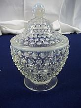 Fenton Hobnail Opalescent Lidded Candy Dish