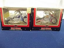 Set  of Two Harley davidson Christmas Ornaments