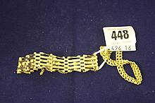 Hallmarked Gold: 9ct. linked padlock bracelet and